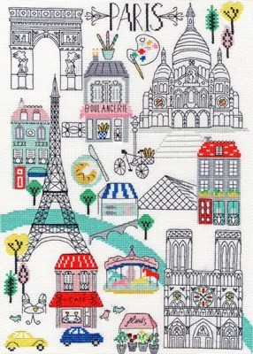 Borduurpakket landen - Paris
