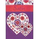 Satin - bloemen in het paars met rood (op=op)