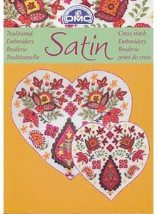 Satin - bloemen met blad - geel (op=op)