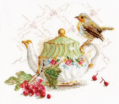 Borduurpakket Tea Guest al-5-19 op=op