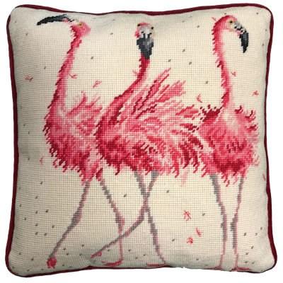Borduurpakket kussen dieren - Pink lady