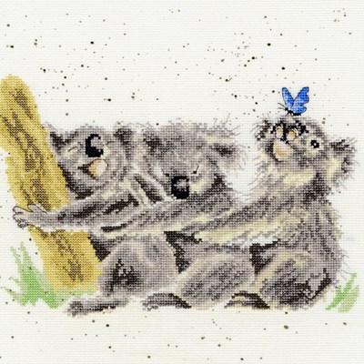 Borduurpakket dieren - three of a kind