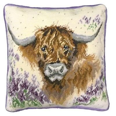 Borduurpakket kussen dieren - Highland Heathers