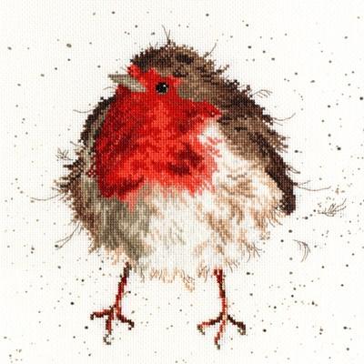 Borduurpakket dieren - Jolly Robin