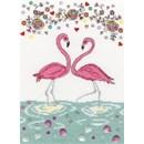 Borduurpakket Love flamingo