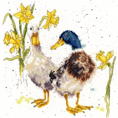 Borduurpakket dieren - Ducks and daffs