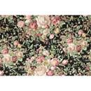 Tissu de Marie - Katoen rozen op zwarte achtergrond (per 50 cm)