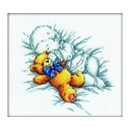 Borduurpakket baby with teddy bear - RTOM00158
