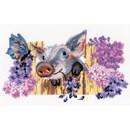 Borduurpakket dieren - Naughty Pig