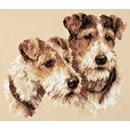 Borduurpakket hond - Fox terriers
