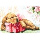 Borduurpakket hond - guarding your gift