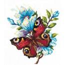 Borduurpakket dieren - Peacock butterfly