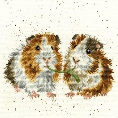 Borduurpakket dieren - Lettuce be friends