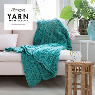Scheepjes Yarn after party no. 24 popcorn and cables blanket