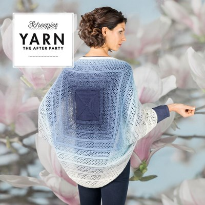 Scheepjes Yarn after party no. 27 indigo shrug
