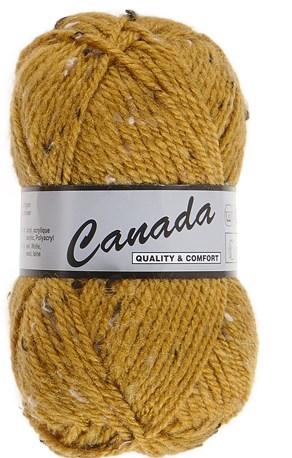 Lammy Yarns Canada tweed 490 oker geel
