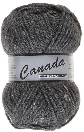 Lammy Yarns Canada tweed 425 donker grijs