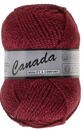 Lammy Yarns Canada 018 donker rood