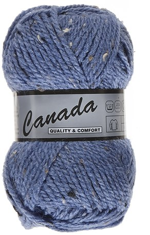Lammy Yarns Canada tweed 455 jeans blauw