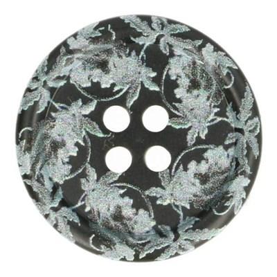 Knoop 20 mm grijs kantprint
