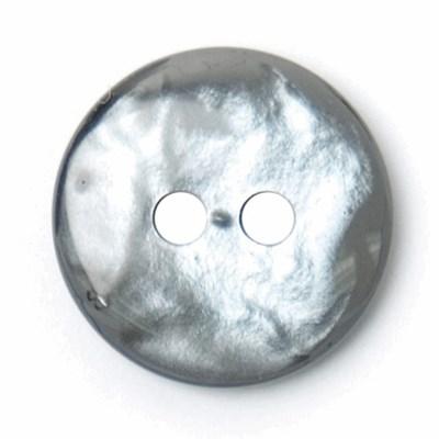 Knoop 12 mm parelmoer grijs