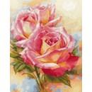 Borduurpakket bloemen Pink dream 2-31 (op=op)