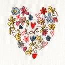 Borduurpakket kaart sweet heart card