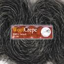 Woolcrepe donker grijs gemeleerd (1 meter)