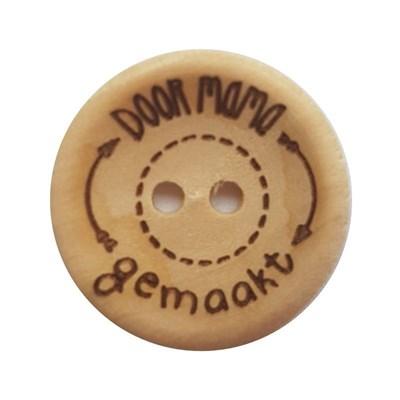Knoop 20 mm hout - Door mama gemaakt 4 stuks