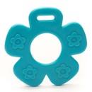 Bijtring bloem aqua blauw 298