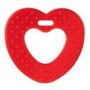 Bijtring hart met noppen rood 722