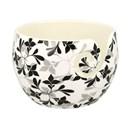 Kluwenhouder - yarn bowl onbreekbaar zwart wit