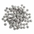Pompon 6 mm grijs (ca 100 stuks)