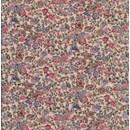Tissu de Marie - ecru met bloemen roze rood (per 50 cm)