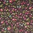 Tissu de Marie - zwart bloemen klein (per 50 cm)