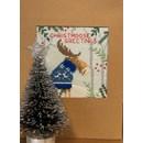 Borduurpakket kerstkaart - Xmas moose