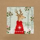 Borduurpakket kerstkaart - Xmas deer