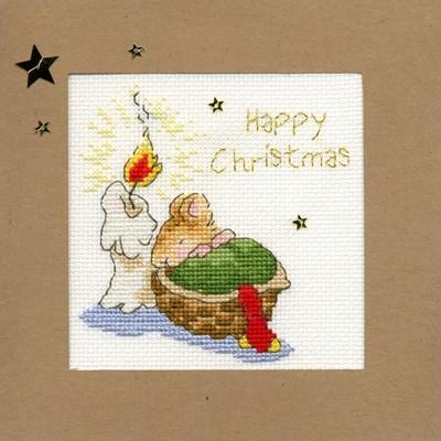Borduurpakket kerstkaart - First Christmas