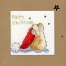 Borduurpakket kerstkaart - Star gazing