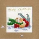 Borduurpakket kerstkaart - apre skie