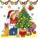Borduurpakket dieren - Christmas mouse
