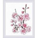 Borduurpakket bloemen The branch of sakura