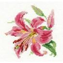 Borduurpakket bloemen - Lily 0-118