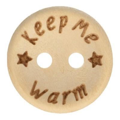 Knoop 15 mm houtlook - keep me warm