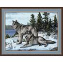 Borduurpakket dieren - wolfs OV-0567 (op=op)