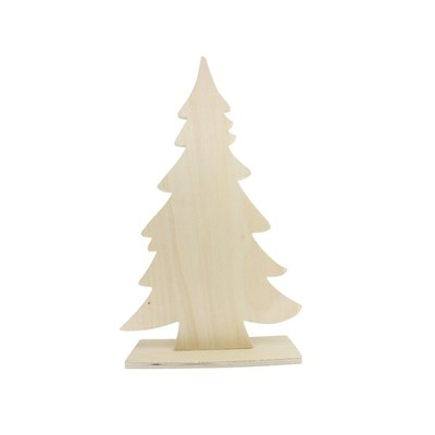 Kerstboom hout 29,5 a 16,7, a 5 cm