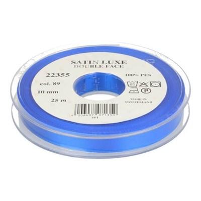 lint satijn 10 mm - blauw 1 meter