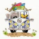 Borduurpakket vakantie - VW bus - Pack your trunk