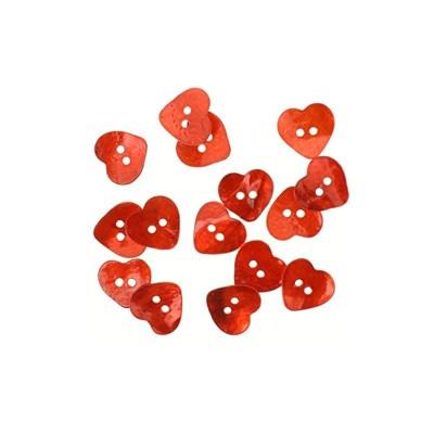 knoop 15 mm hart parelmoer rood