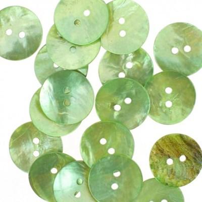 Knoop 20 mm parelmoer groen